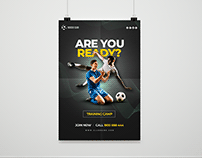 Soccer club training camp poster Free Psd