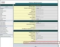 Cisco Digital Media Player UI