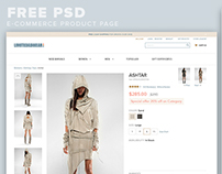 FREE psd file of E-Commerce Product Page