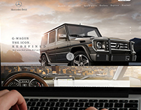 Mercedes SUV Web UI Concept