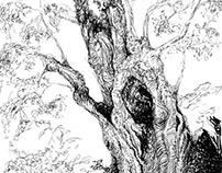 Inked Trees - Árboles Entintados