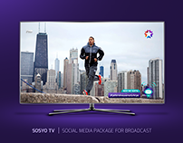 SOSYO TV | SOCIAL MEDIA GRAPHICS PACKAGE FOR BROADCAST