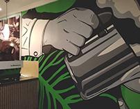 Bar Rizzo | Cafe Mural Art