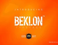BEKLON FONT