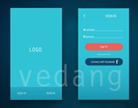 Mobile app Login/ SignUp screen designs