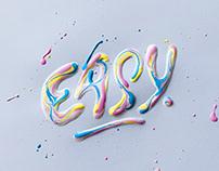Easy - Wet Acrylic Lettering