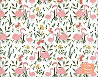 Flamingo Pattern Repeat