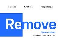 Remove DEMO FREE FONT