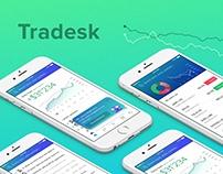 Future of trading - Tradesk UX/UI Concept