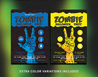 Halloween Zombie Party Flyer Template Download Vol - 4