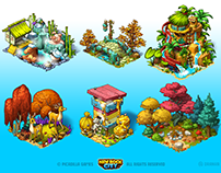 New Rock City - decorations and animals