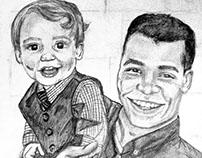 Portrait Sketch- Father & Son