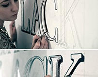 Typography Wall Mural - Timelapse video