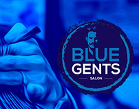 Blue Gents Saloon Branding