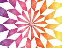 Star Optical Illusion Rainbow Background Vector