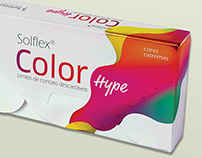 Embalagens Solflex color Hype