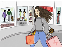 Daily Illustrations of a Lonely girl living abroad
