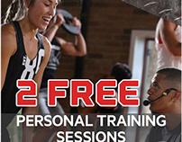 World Gym Training Poster & Web Ad