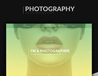 Photography psd web template
