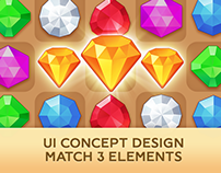 Pirate Treasures: UI concept design and match3 elements