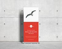 Free Roll Up Stand Mockup