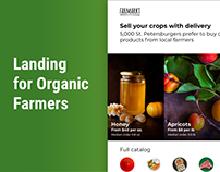 Landing Page for Organic Farmers