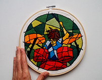 Rock one - Embroidery Art