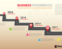 Free Timeline Business Infographics Roadmap Design