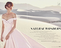 Fashion shoot for Martha Stewart Weddings Fall 2017