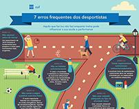 7 Erros Frequentes dos Desportistas | Infografia