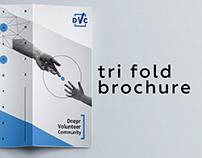 Tri fold brochure for Dnepr Volunteer Community