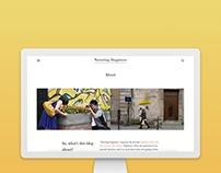 Narrating Happiness Blog Design
