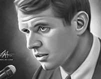 Robert F. Kennedy Digital Oil Painting by Wayne Flint