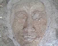 large face earthwork