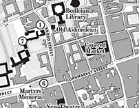 Map of Oxford in 1911 for The Dictionary of Lost Words