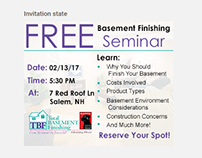 Total Basement Finishing - AdWords Display Ad Designs