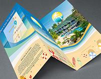 Eau De La Union Surf Town Tri-fold Brochure Design