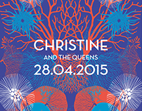 "Silkscreen Poster ""Christine and the Queens"""