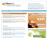 Cleantech Group, LLC: HTML Weekly Newsletter