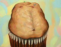 Cup Cake H. Oil on canvas. 70x70cm