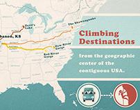 Rock Climbing Destinations Map - Cartography project