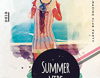 Summer Vibe - Download Free PSD Flyer Template