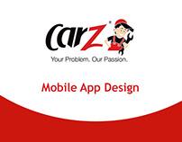 Carz - Mobile App Design