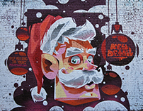 SANTA for Movember Foundation in Bushwick, Brooklyn