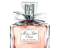 Miss Dior Chérie - Watercolor