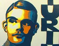 Turing Linoleum Print