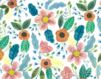 Summer Flowers / Surface Pattern Design