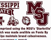Updated Slanted MSU logo