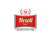 Hexell Lager Logo and Packaging Design
