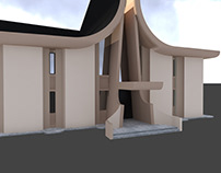 Catholic Church Skopje - 3D Modeling and Rendering